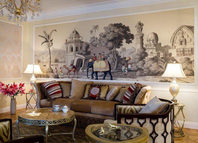 Оформление гостиной в колониальном стиле
