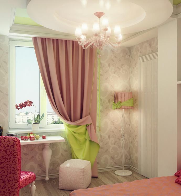 Шторы в современном интерьере детской комнаты